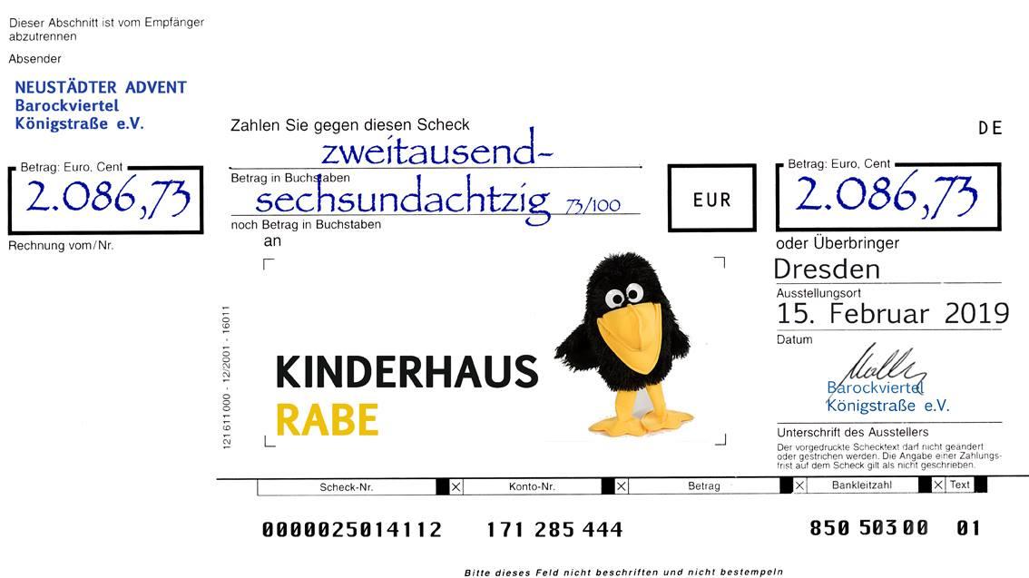 Barockviertel unterstützt Kinderhaus Rabe